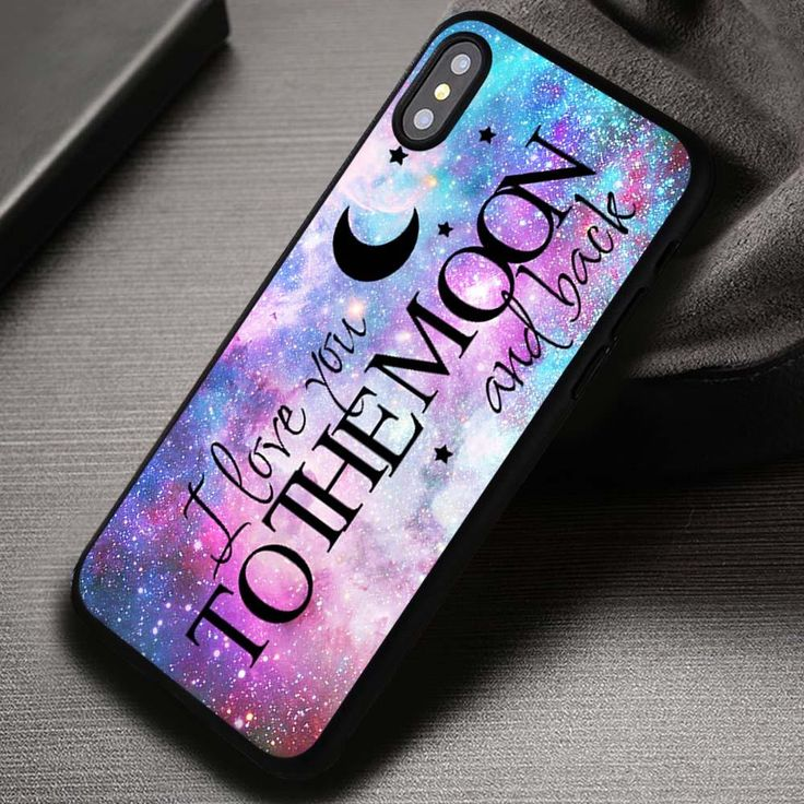 I Love You To The Moon And Back Quote - iPhone X 8  7 6s SE Cases & Covers #quote #love #moon #galaxy #iphonecase #phonecase #phonecover #iphone7case #iphone7 #iphone6case #iphone6 #iphone5 #iphone5case #iphone4 #iphone4case #iphone8case #iphoneXcase #iphone8plus