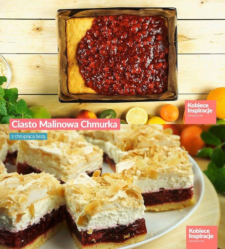 Ciasto Malinowa Chmurka z bezą