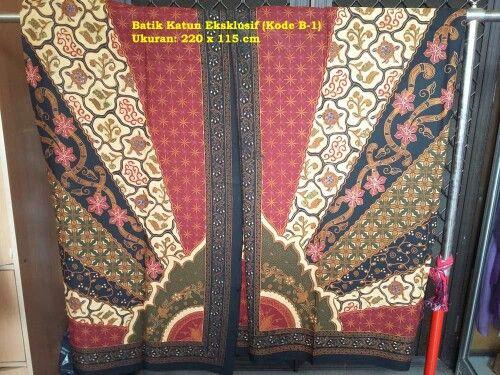 Kain Batik katun eksklusif. SARIMBIT. Rp.330 ribu/potong