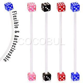 BioFlex UV Coated Acrylic Multi Gemmed Dice Ball Pregnancy Navel Ring     #pregnancy #bellyring #navelring #piercing #expecting #newmom #baby #dice #gamble #bioflex #acrylic #bodymod #happy #cocobul #cocobulbodyjewelry