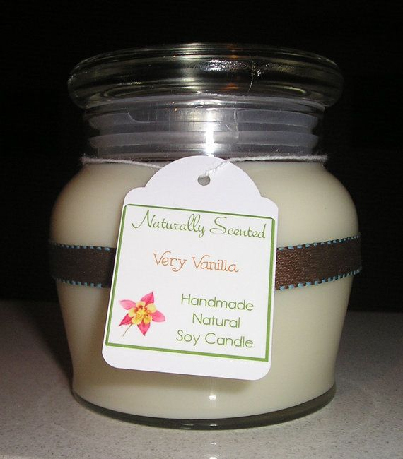 Very Vanilla Soy Candle by NaturallyScented on Etsy, $16.00