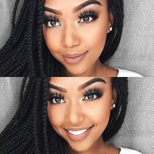 http://www.shorthaircutsforblackwomen.com/black-women-makeup-tips-for-dark-skin-copper-eyes-nude-lip-makeup/ Black Women Makeup Tips For Dark Skin - Copper Eyes & Nude Lip Makeup - Black Hair OMG! Black Opal, Iman, Mac Tutorials & makeup ideas for black women.