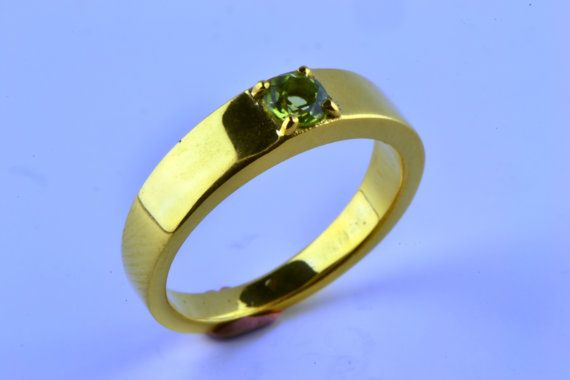 14K Gold Filled Natural Earth Mined Peridot by LuckyGirlAtelier