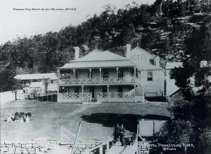 Wiseman Ferry Inn Hotel at 6 Old Northern Rd,Wisemans Ferry in the late 1800s.