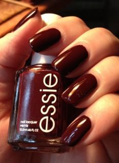 Essie Shearling Darling - gorgeous dark oxblood red nail polish