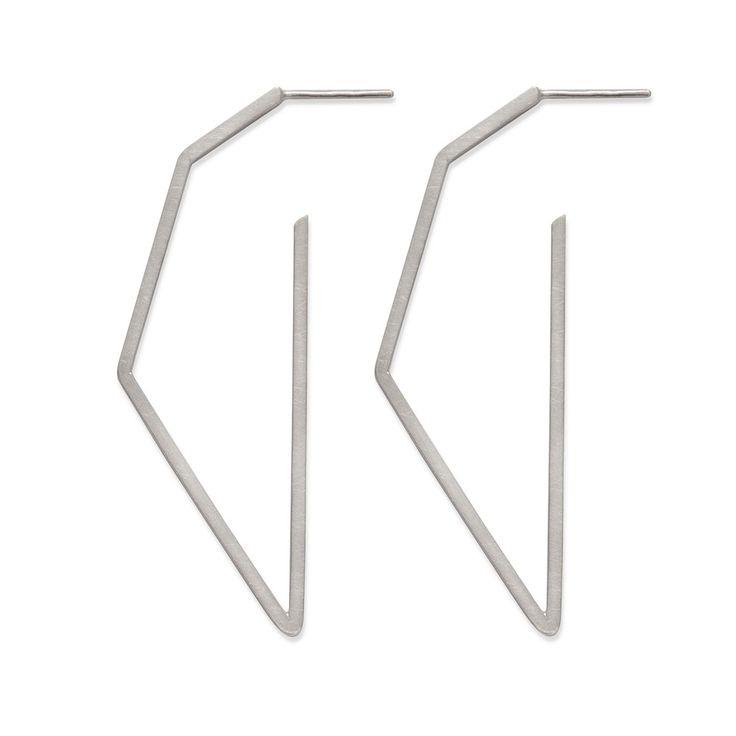 Silver, handmade earrigs by Kasia Wójcik