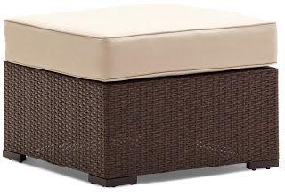 Strathwood Griffen All-Weather Wicker Ottoman, Dark Brown | Strathwood Griffen | Strathwood Outdoor Furniture