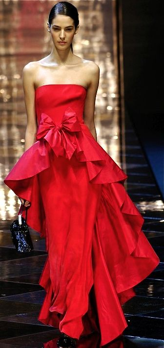 Valentino red gown