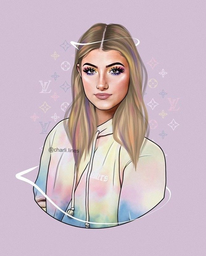 Pin By Anoli Remmit On Charli D Amelio Instagram Cartoon Girls Cartoon Art Cartoon Girl Drawing