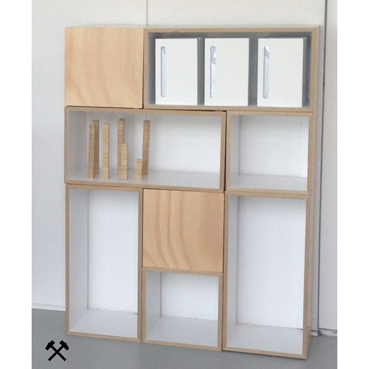 Work-Shop by MGDC Storage ©  300.300.300 and 300.300.600. Sustainable Australian plantation plywood with no voc paint finish available in a range of colours from our website. http://www.work-shop.net.au/products/