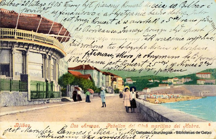 Club Marítimo y muelle de Las Arenas, 1908 (Cedida por Indalecio Astobiza) (ref. 05957)