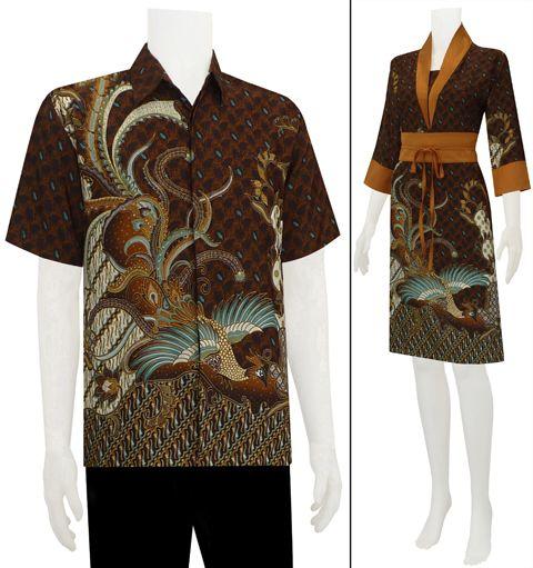 Batik modern dress sarimbit
