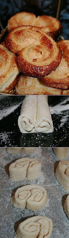 Печенье «Слоеные ушки» - Простые рецепты Овкусе.ру
