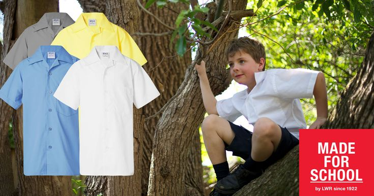 Our classic Deakin School Shirt will make the transition to school easy this year.  With it's laid back collar and classic styling, your boy will think he's still on holidays.