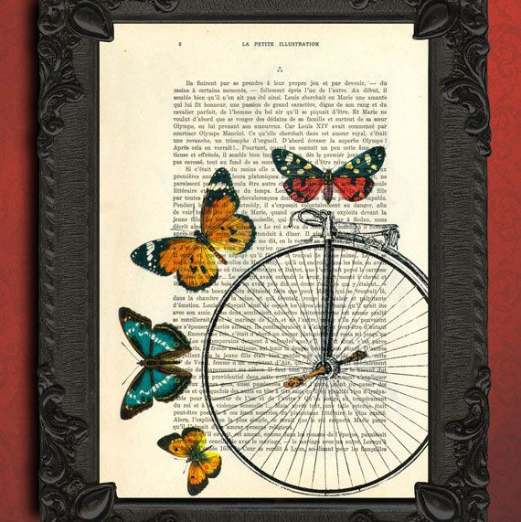Hey, I found this really awesome Etsy listing at http://www.etsy.com/listing/103524620/bicycle-wheel-surrounded-by-butterflies
