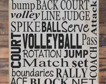 Volleyball Collage Vinyl Wooden Subway Art Sign X Children Wall Art, Volleyball  Decor, Volleyball Wall Art, Bedroom Decor By HDVinylDesigns On Etsy