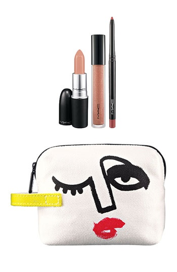 M·A·C 'Illustrated - Nude x3' Lip Color & Bag by Julie Verhoeven (Nordstrom Exclusive) ($54.50 Value) available at #Nordstrom