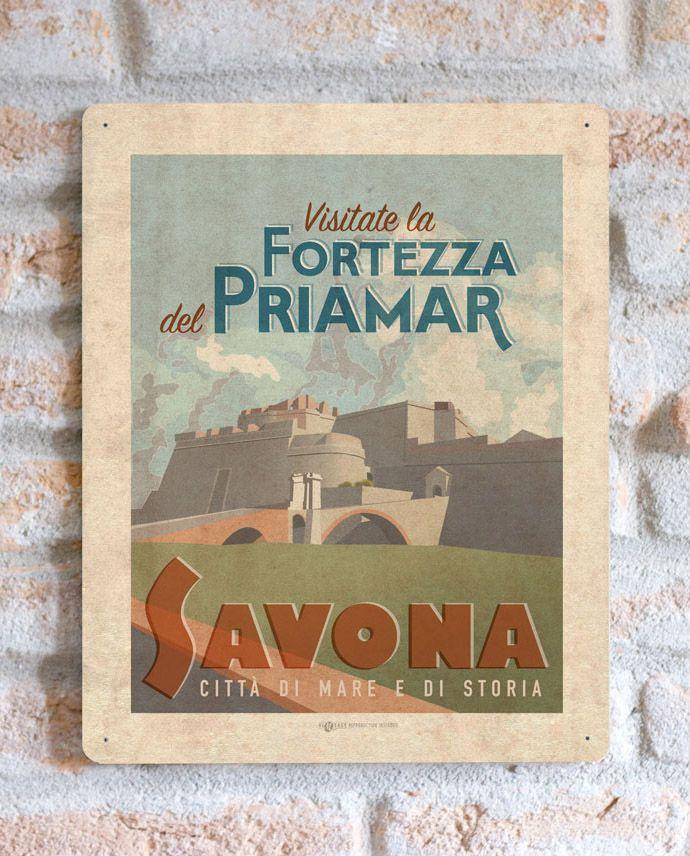 Fortezza Priamar Savona   TARGA   Vimages - Immagini Originali in stile Vintage