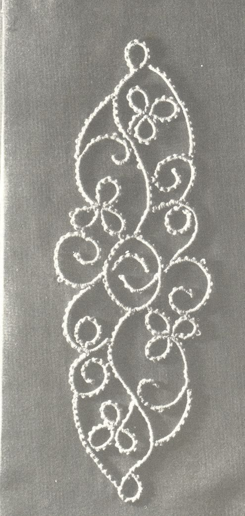 "This is called ""Climbing Plant"" and is an example of the node stitch in Tatting Techniques by Elgiva Nicholls. Now this is not Tatting Technique and History by Elgiva...it's a different book, not as commonly found. ISBN: 0 263 05907 3"