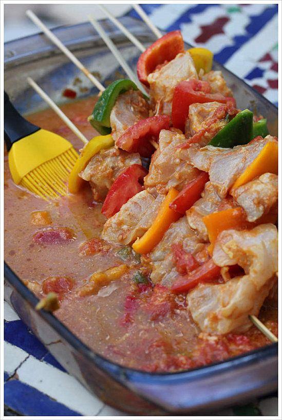 marinade pour brochettes de poisson et gambas testé et approuvé