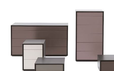 Novamobili Valley Chests of Drawers come in 23 different colour finishes and there are 5 different sized bedside tables to match. You can even have the drawer fronts in a different colour to the carcass! #unique #bedroom #furniture