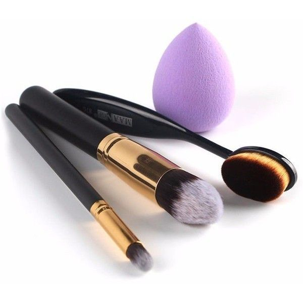 4Pcs/Set MAANGE Makeup Toothbrush-shape Brush Cosmetic Power Cream... ($7.90) ❤ liked on Polyvore featuring beauty products, makeup, makeup tools, makeup brushes, shadow brush, foundation makeup brush, foundation brush, eyeshadow brushes and eye shadow brush
