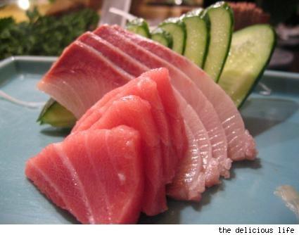 sashimi - toro and hamachi, my favorites