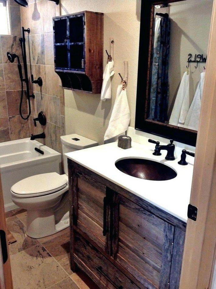 49 Inspiring Rustic Bathroom Ideas For Cozy Home Small Rustic Bathrooms Rustic Cabin Bathroom
