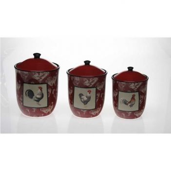 Painted Kitchen Canisters