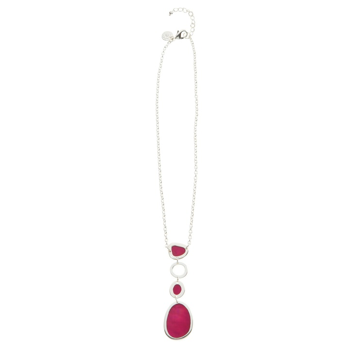 The Grace Adele Laguna Drop Necklace in pink
