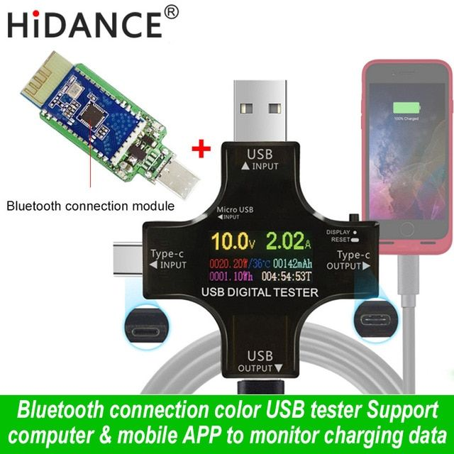 USB tester wireless Bluetooth DC voltmeter current voltage