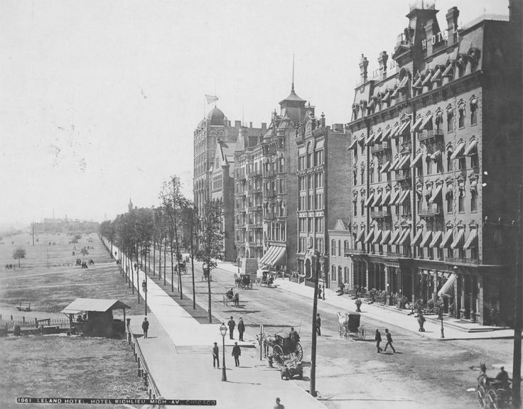 #Michigan Avenue  #1880s  #Jackson Boulevard -- went to school on Michigan Avenue in the 1980s.
