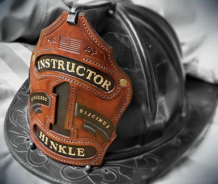 Black Smoke Shields: Leather fire helmet front shields