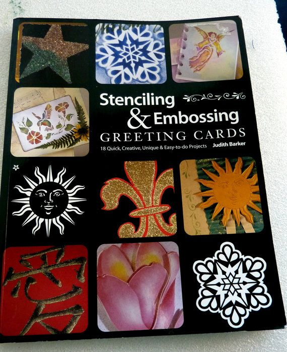 Stenciling & Embossing Greeting #Cards/DIY making by LDphotography