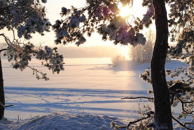 In der Region #Saimaa ist Winter eingekehrt #Finnland