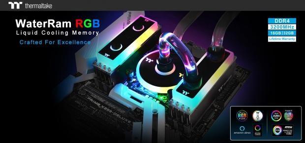 Thermaltake reveals liquid-cooled RGB DDR4-3200MHz RAM | TweakTown
