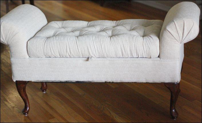 A tufted bench DIY makeover