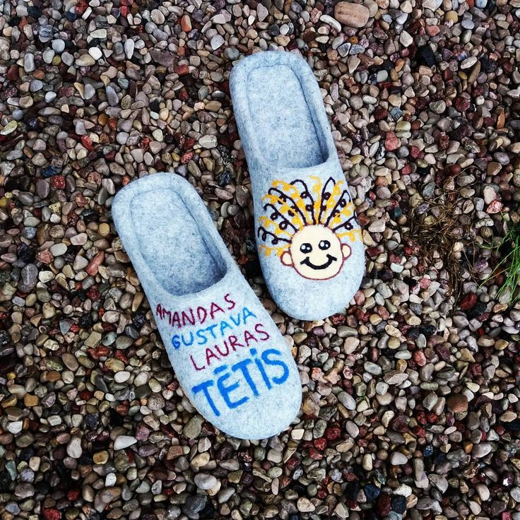 "wet felted wool slippers for dady InesePAMANA (@pamana.lv) on Instagram: ""Kāds bagāts tētis būs iepriecināts un sasildīts . . . #feltedslippers #woolslippers #feltslippers…"""