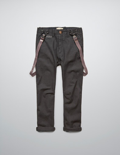 HERRINGBONE TROUSERS WITH BRACES - Trousers - Boy (2-14 years) - Kids - ZARA United States
