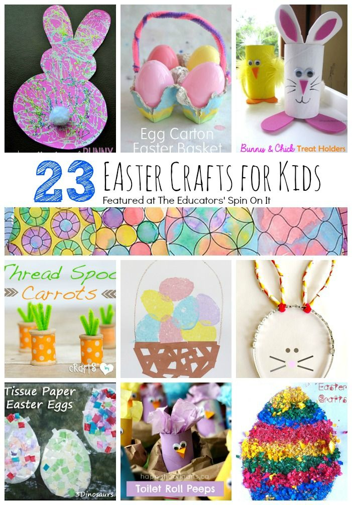 The very best collection of Easter crafts for kids that will turn out every time!