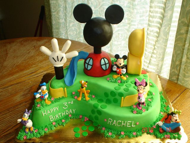 Mickey Mouse Clubhouse Cake by valscustomcakes, via Flickr