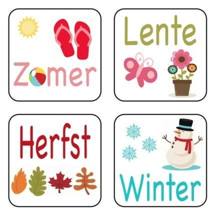 De magneetjes met de seizoenen mogen natuurlijk niet ontbreken op je planbord!  www.olifantastisch.nl