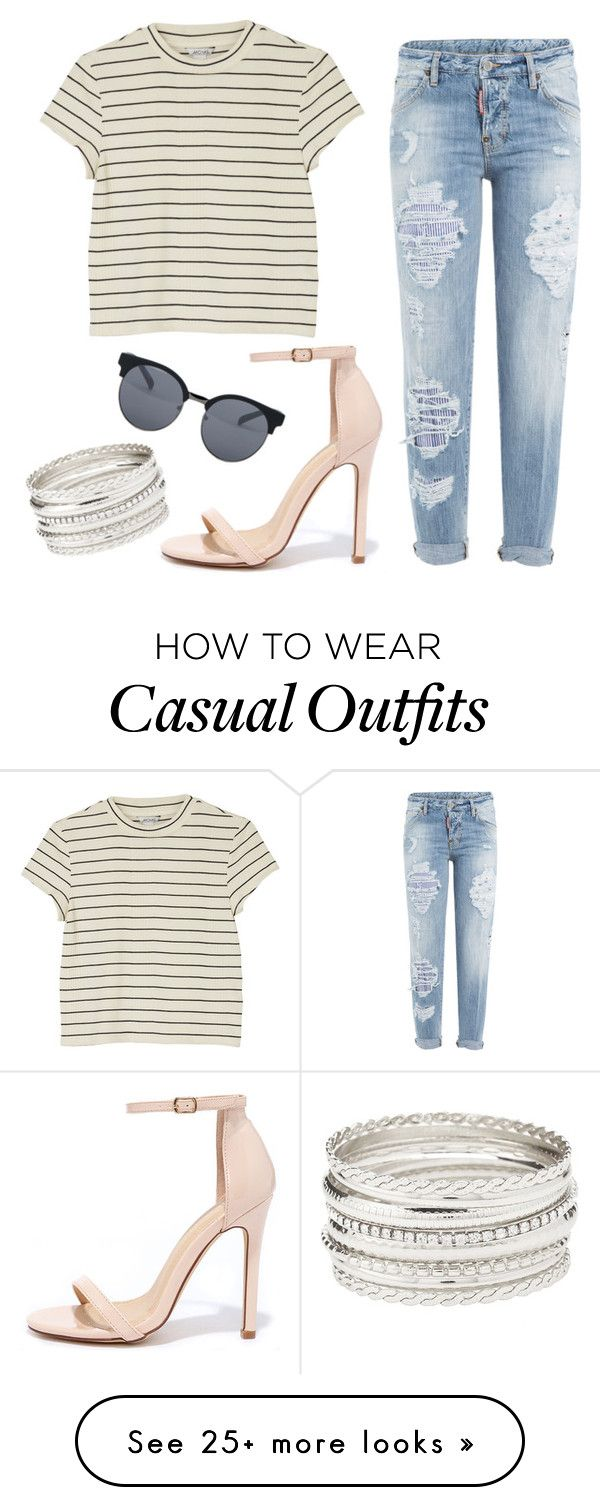 """#casual"" by nastiamoroz on Polyvore featuring Dsquared2, Monki, Liliana, Charlotte Russe and Quay"