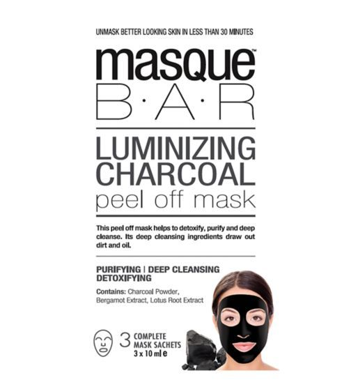 Face Mask || Luminizing Charcoal Peel Off Mask- Purifying, Deep Cleansing & Detoxifying (charcoal powder, bergamot extract, lotus root extract)