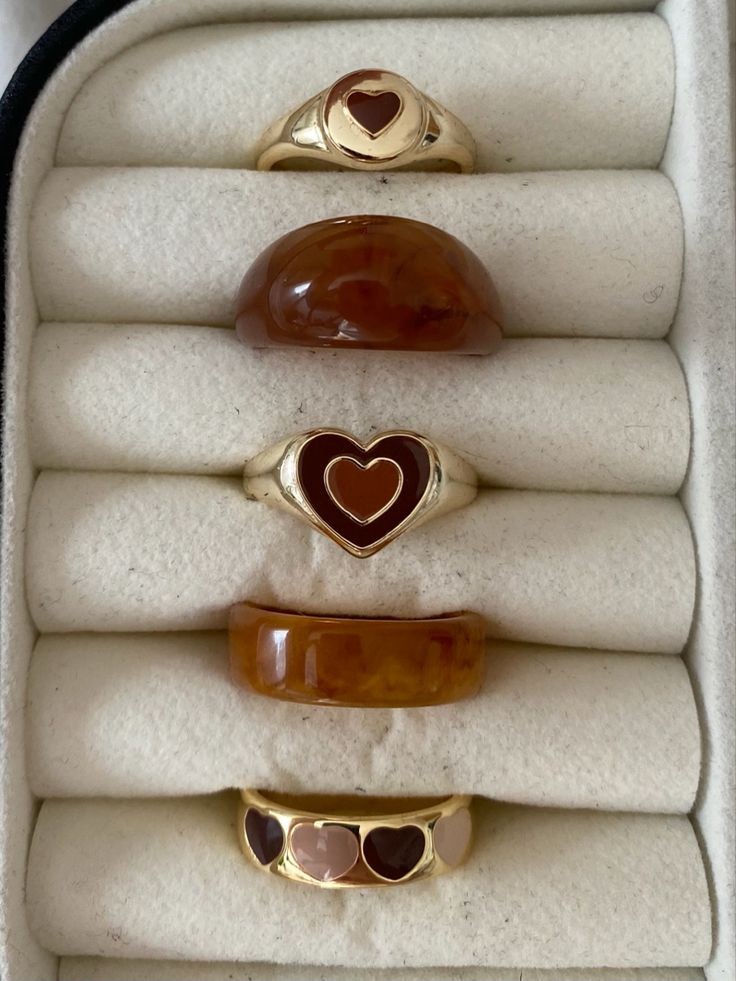 Cute Jewelry, Jewelry Accessories, Hippie Jewelry, Accesorios Casual, Brown Aesthetic, Cute Rings, Bling, Jewels, Silver