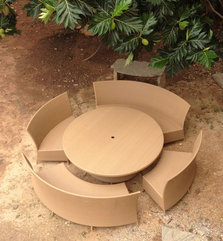 Synthetic rattan 10 seater set