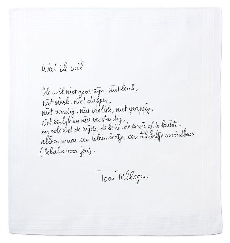 Wat zijn ze toch mooi, de ' schrijfsels' van Toon Tellegen :)