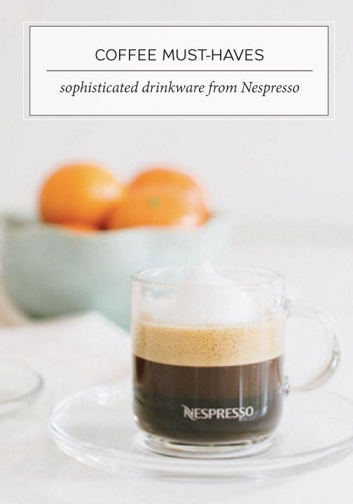 The simple design of these VertuoLine Espresso Set glasses from Nespresso truly captures the rich color and the sophisticated flavor profile of your daily cup of coffee. Brew up something special and savor the moment you have just created for yourself.