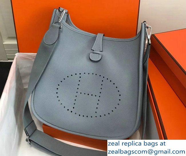 Hermes Togo Leather Evelyne III PM Bag Baby Blue 2803115474 ... b73c2ff005348