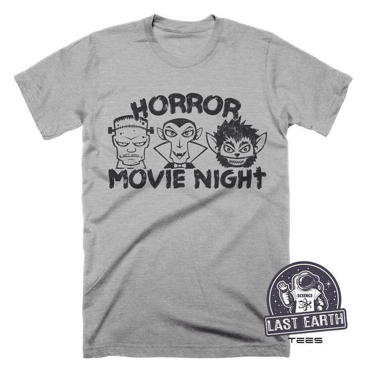 Horror Movie T Shirt Vintage Halloween Shirt Frankenstein Shirt Dracula Shirt Werewolf Shirt Movie Night Spooky Tees Vampire Monster T Shirt by lastearth on Etsy https://www.etsy.com/listing/477406729/horror-movie-t-shirt-vintage-halloween
